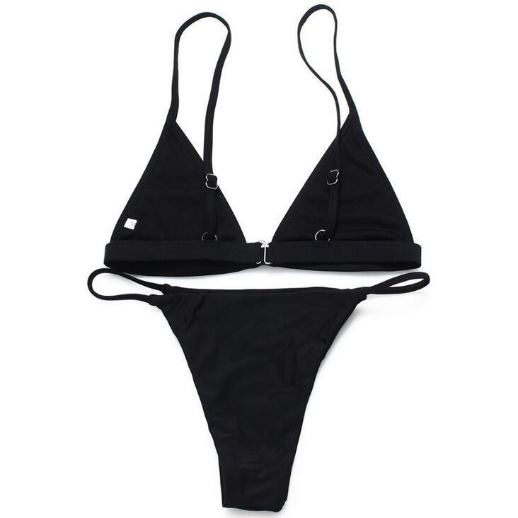 Good A ++ El nuevo traje de baño de color sólido dividido traje de bikini NS021