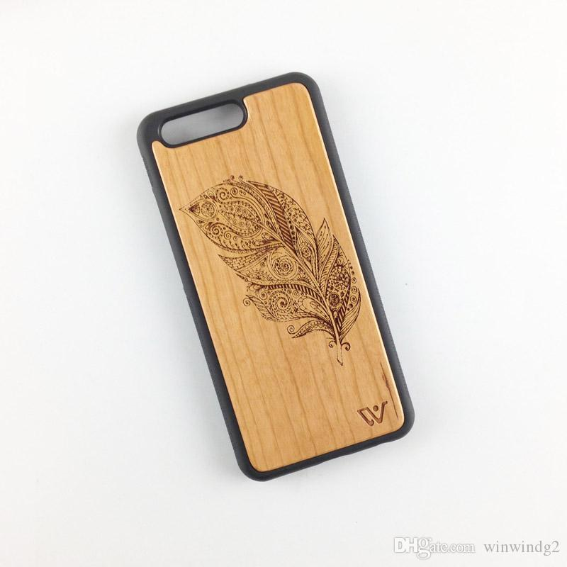 UI® Luxury Rosewood Phone Case Wood + PC + TPU Case Cover Cover Case for Huawei p10 p10 plus Cases
