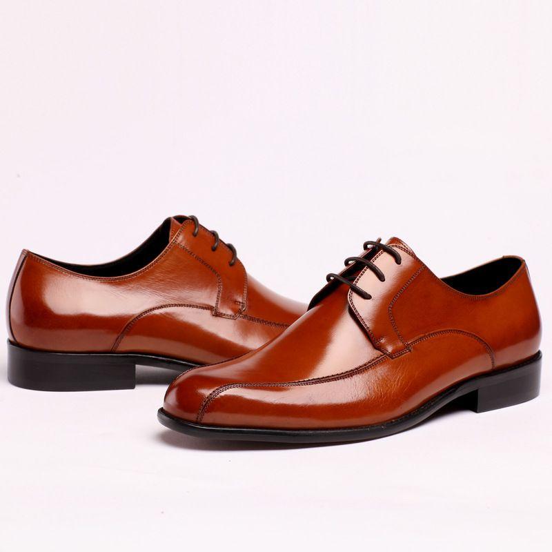 2017 Nouveau Mode Hommes Chaussures Habillées En Cuir Véritable Slip-on Robe Chaussures À La Main De Fumer Slipper Hommes Appartements Partie De Mariage Chaussures taille 37-44
