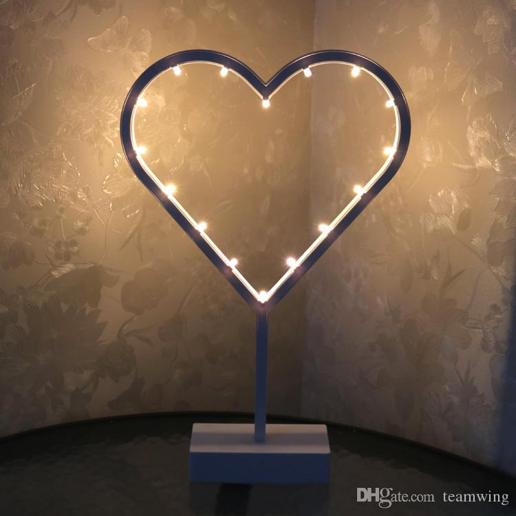 2019 Lovely White Heart Night Light Children Bedroom