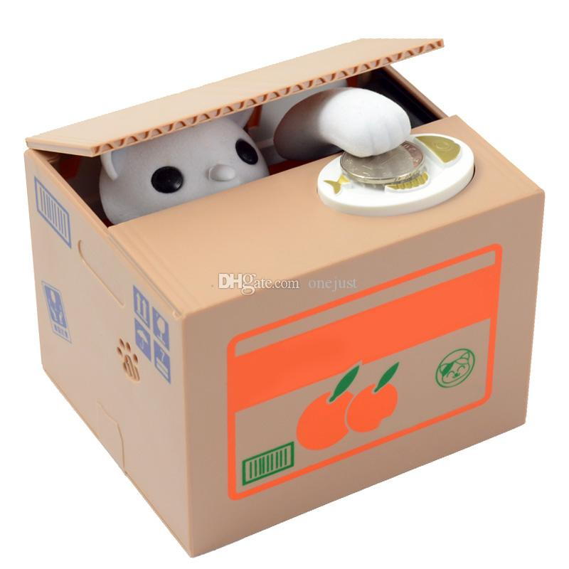 Creative piggy bank Itazura Kitty Cat Steal Money Coin Box Piggy Bank E00170 ONET
