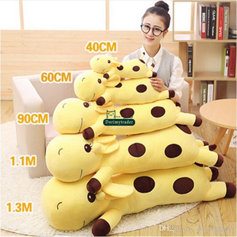 2019 Dorimytrader 130cm Large Lovely Soft Animal Giraffe Plush
