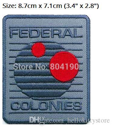 """3.4"""" TOTAL RECALL Patch Federal Colonies 50% OFF FOR 10 TV Movie Series applique iron on logo badge costume Uniform"""
