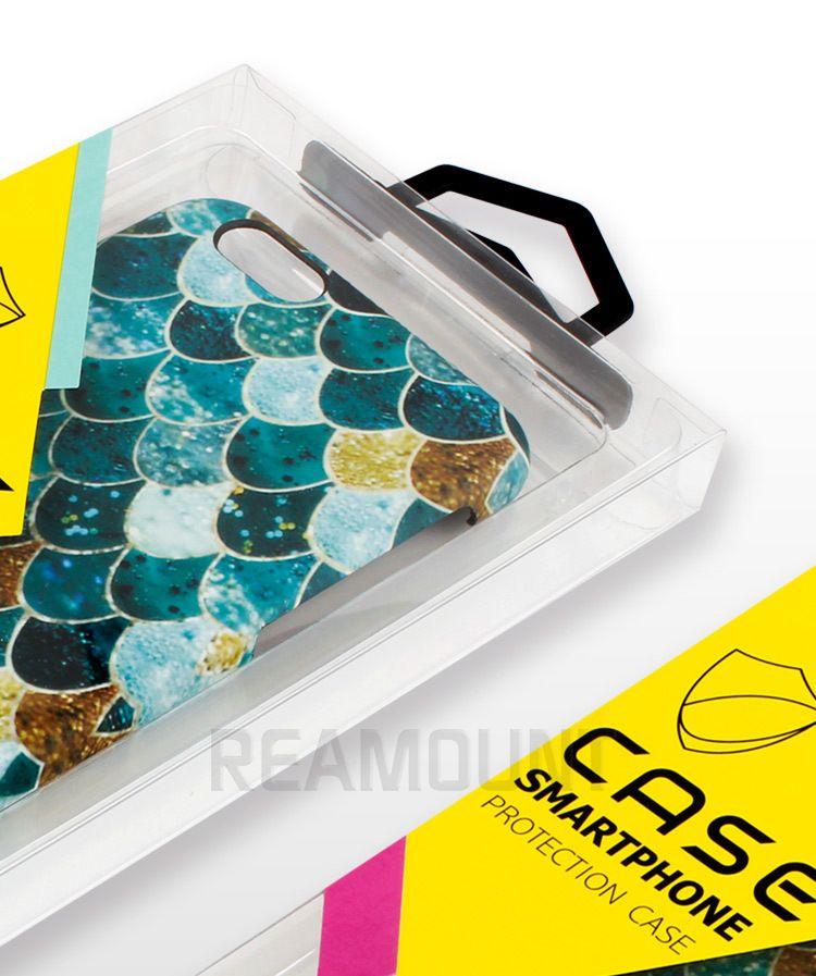 Nuovo design di lusso trasparente imballaggio in pvc iPhone 8 8 più custodia pacchetto iPhone Custodia cellulare