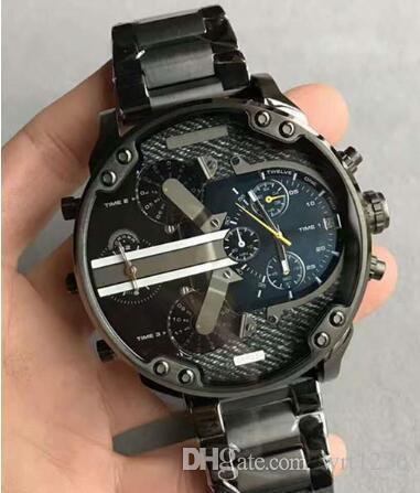 a4f6e51f83a8 Compre Envío Gratis De Alta Calidad 57 Mm Cuarzo Reloj Cronógrafo DZ7331  DZ7312 DZ7333 Negro Oro Acero Inoxidable Para Hombre Reloj A  86.3 Del  Wrt1236 ...