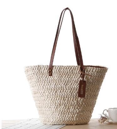 2017 europea de la moda clásica simplicidad de explosión hecha a mano bolsa de paja bolsa de ocio bolsa de playa de ocio envío gratis