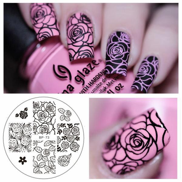 Born Pretty Bp73 Rose Flower Nail Art Stamp Template Image Plate Bp ...