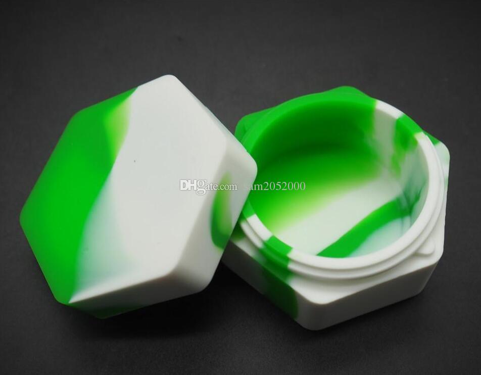 Hurtownie - Wielokrotnego użytku Silicone Box Wax Box Silikonowy Contians do Silikonów Wosk Dab