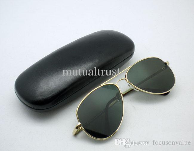Gafas de sol retrovisores anti-Track gafas de sol piloto de protección UV gafas de sol anti UV espejo retrovisor gafas en caso de protección