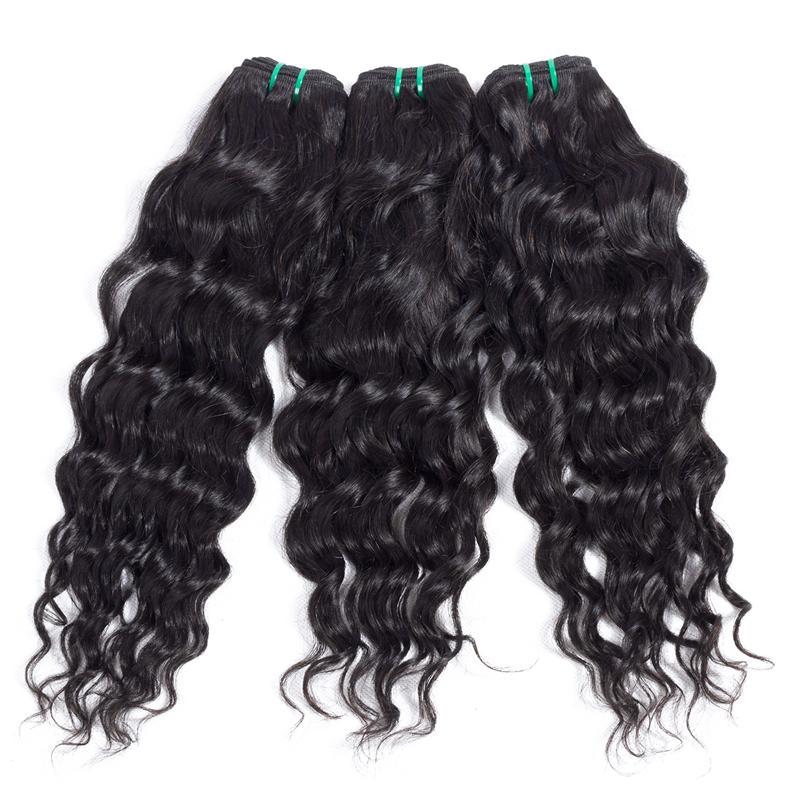 Unprocessed Brazilian Hair Bundles Cheap Remy Human Hair Weave Bundles Peruvian Water Wave Malaysian Indian Wholesale Hair Extensions