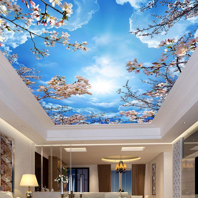 Acheter Peinture Murale Personnalisee Peinture Bleu Ciel Blanc