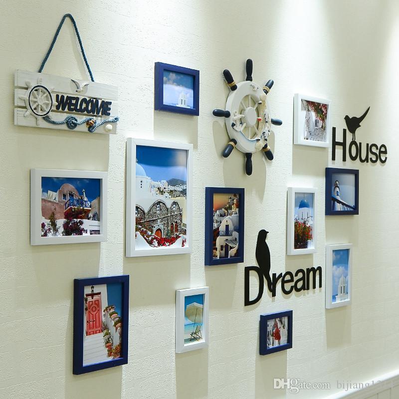 Großhandel Neue Wand Bilderrahmen Multi Fotos Organizer Nautischen ...