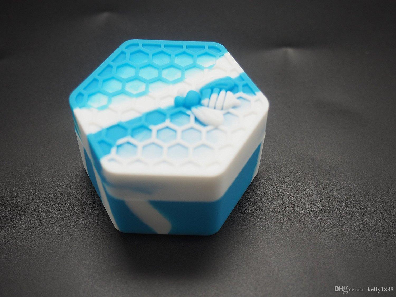 26 ML Bom preço de abelha do hexágono Recipiente De Silicone Frascos Recipiente Para Crumble de Óleo de Mel Cera Frascos De Silicone Dab Wax Recipiente