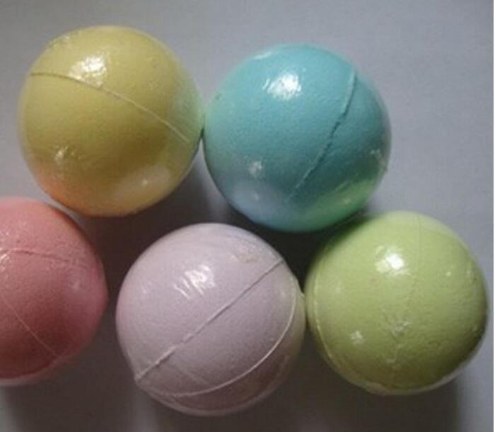 40g Random Color! Natural Bubble Bath Bomb Ball Essential Oil Handmade SPA Bath Salts Ball Fizzy Christmas Gift for Her