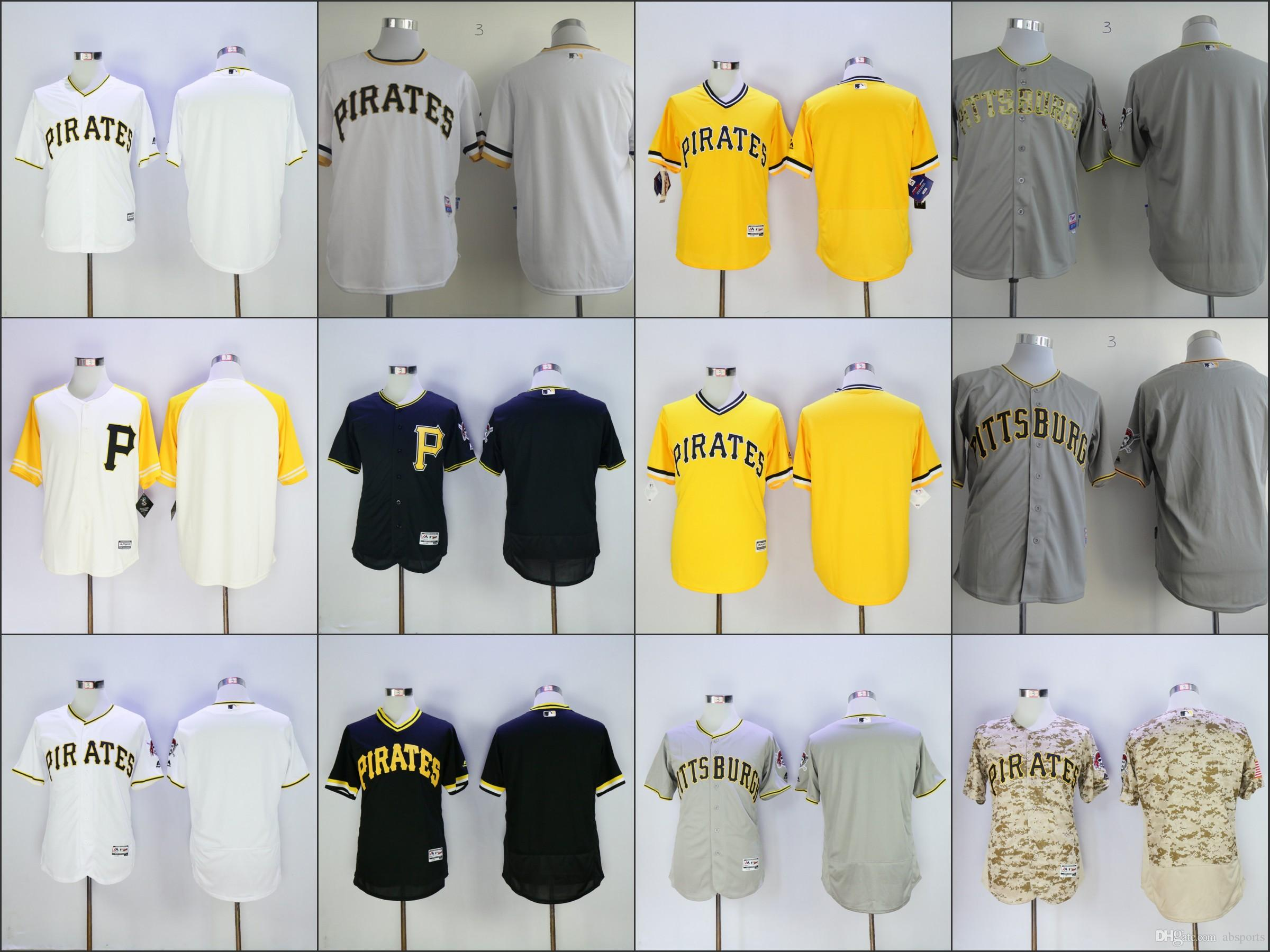 best sneakers ba1e9 de621 pittsburgh pirates blank gray with camo jersey