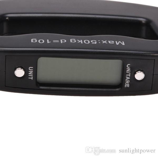 Tasca 50kg / 10g LCD digitale pesca appeso bilancia elettronica gancio peso bagagli tenuto in mano scala digitale bilancia gancio