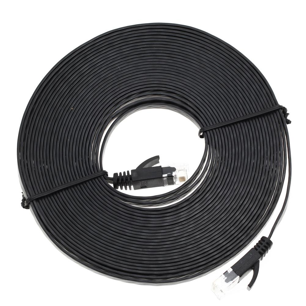 Wholesale-10M Aurum Cables Flat CAT6 Flat UTP Ethernet Network Cable ...