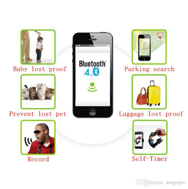 Mini Smart Finder Bluetooth Tag GPS Tracker Schlüsselmappe Kinder Haustier Hund Katze Kind Tasche Telefon Locator Anti Verloren Alarm Sensor In Opp Tasche