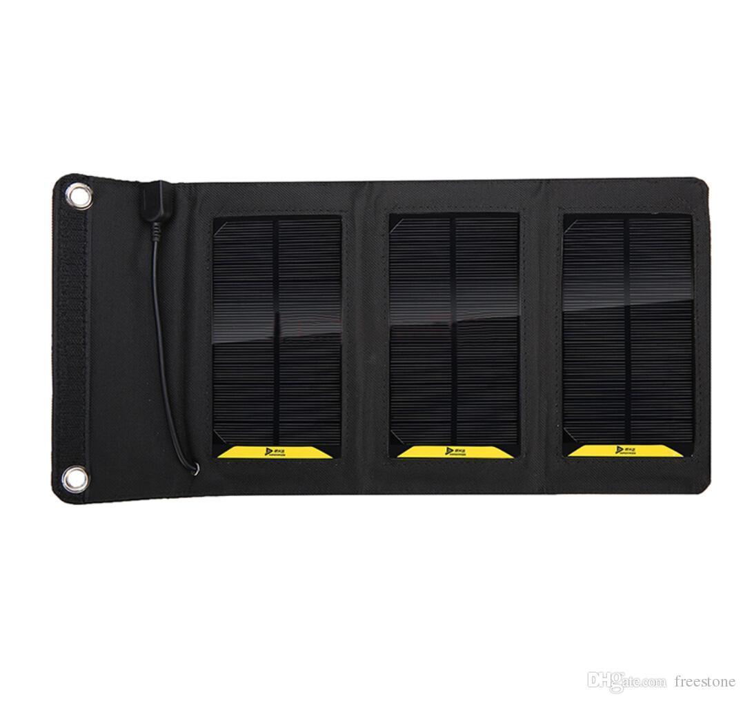 إمدادات الطاقة في الهواء الطلق 6W عالية الكفاءة في الهواء الطلق القابلة للطي شاحن شاحن شاحن لوحة للطاقة الشمسية ل mobilephone قوة البنك MP3 / 4 سفينة مجانية.