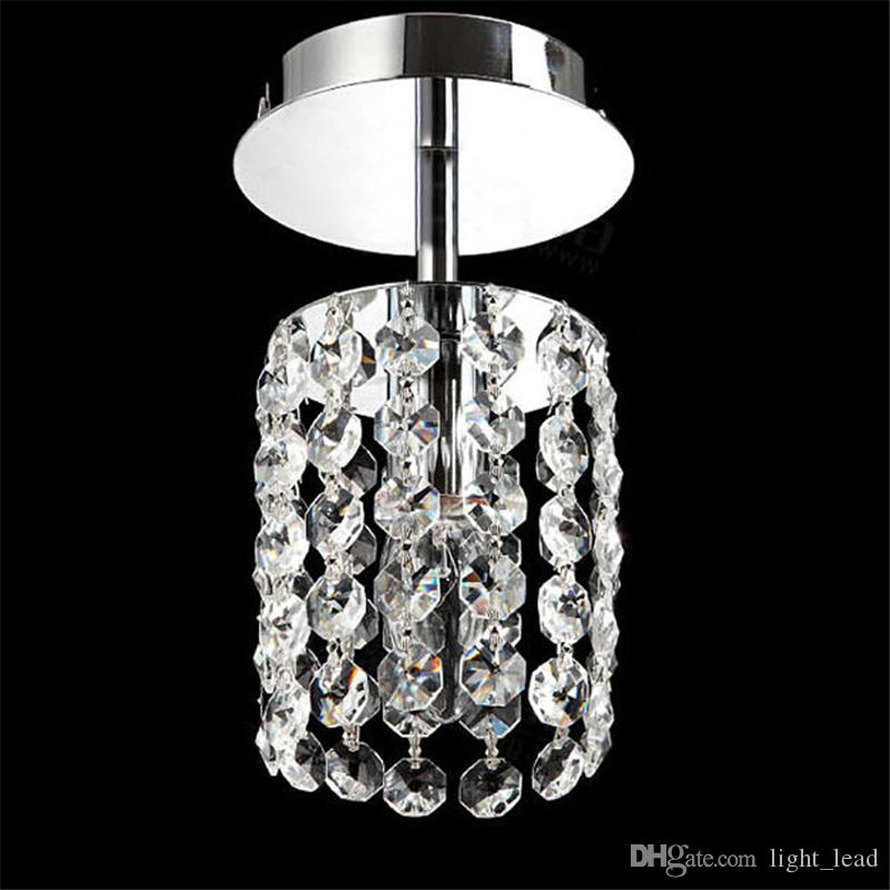 NEW K9 Crystal Chandelier light E14 Single Head LED Saving Chain pendent lamp Modern Plated for Living Room Dining Bedroom 110V/220V