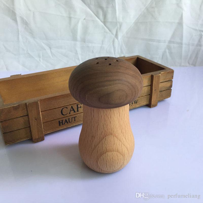 Einfache Holz Zahnstocher Inhaber Personalisierte Pilz Zahnstocher Box Desktop Ornamente Home Restaurant Dekoration Geschenk Freies Shippng ZA3031