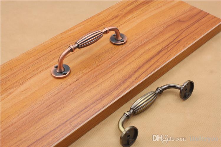 top handle door handles home hardware drawer pulls knob bronze copper knobs antique cabinet handles with screws
