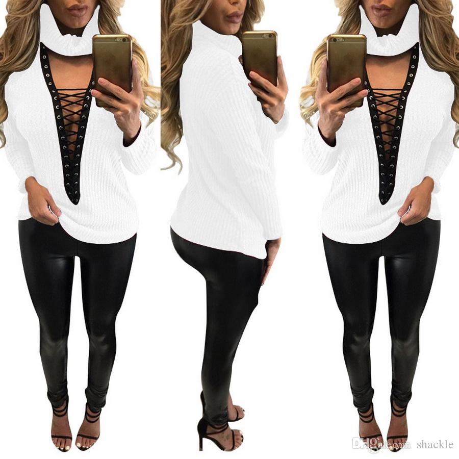 Otwarte Koszulki Koszulki Kobiet Koszula Koszulka Femme Długie Rękaw Wiosna Camisetas Poleras de Mujer Tshirt Kobiet koszulki Topy Dzianiny