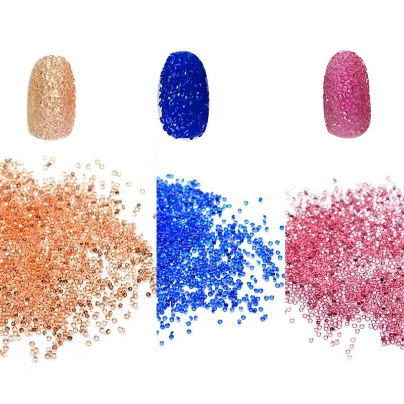 Tiny Mini Nail Art Rhinestone Micro Diamond 3D Nail Rhinestones Decoration DIY Crystal Nail Art Beauty