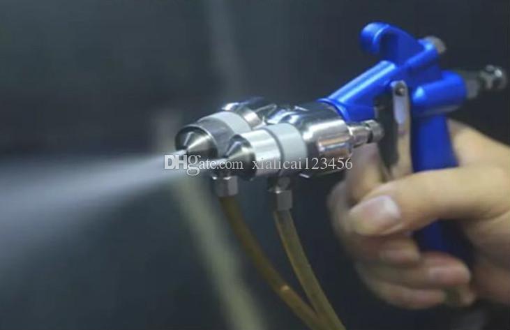 Original druckluft lackierpistole doppelkopf hvlp auto rad beschichtung lackierpistole für chrom und silber spiegel malerei