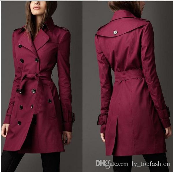 2020 Casaco Comprido Windbreaker Europa América Fashion Trend trespassado de Slim Longo Trench Q1534 Outono novíssimo Mulheres Trench