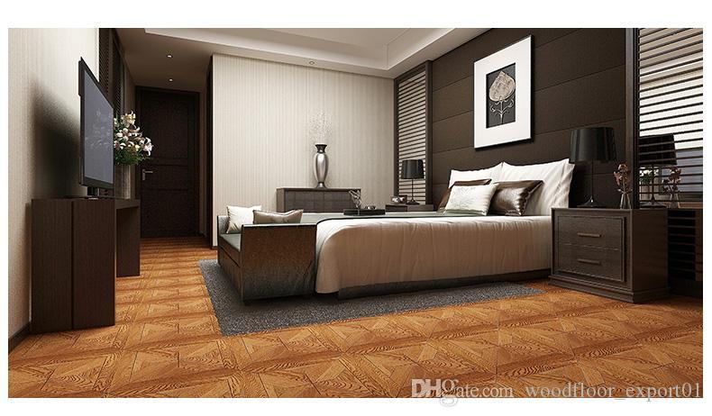Oak Solid Laminate Art Wall Parquet Walnut Wood Flooring Wooden
