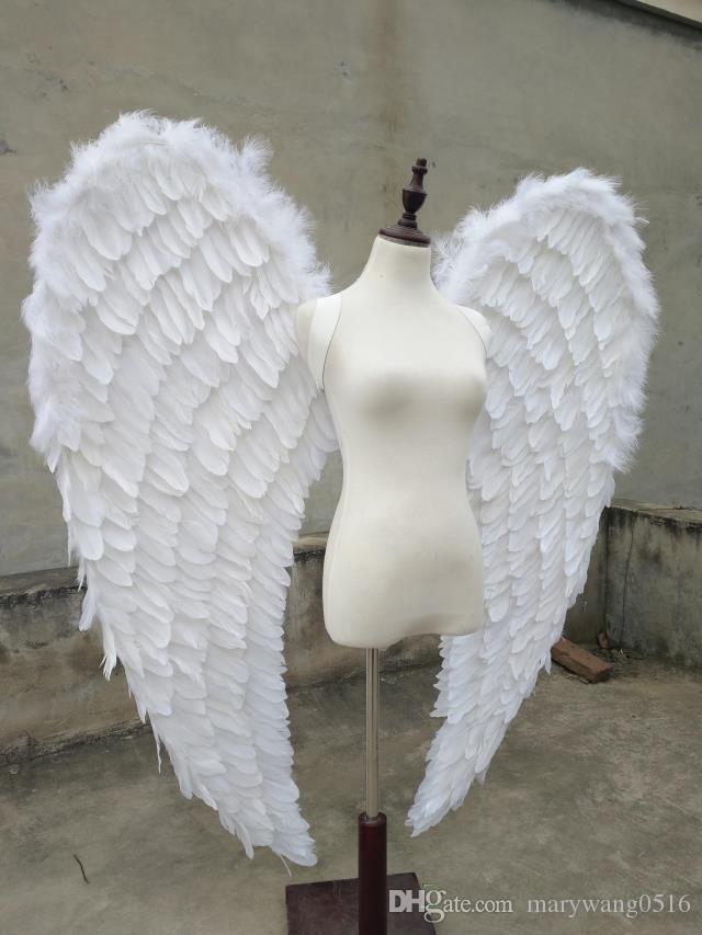 большого размер красивых белых ангела крыла автомобильной выставка Отображает Концертную Свадебные съемки реквизита чистой ручной работы