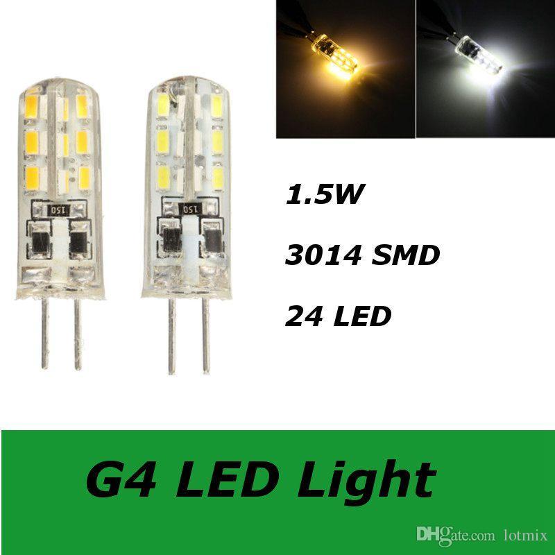 Best Price DC12V 1.5W G4 LED Light 200 Lumen 3014 SMD 24 LED Energy Saving Light Bulb Silica Gel Lamp Pure Warm White