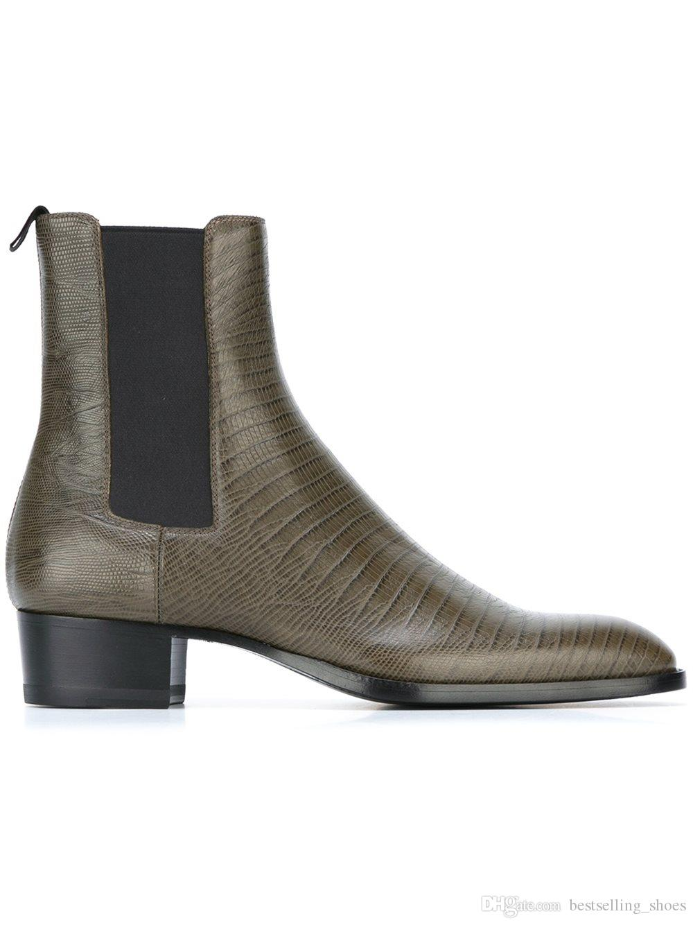 Fashion men's Martin boots leather high top boots 2017 Europe and American trend men tide personality men's Chelsea boots