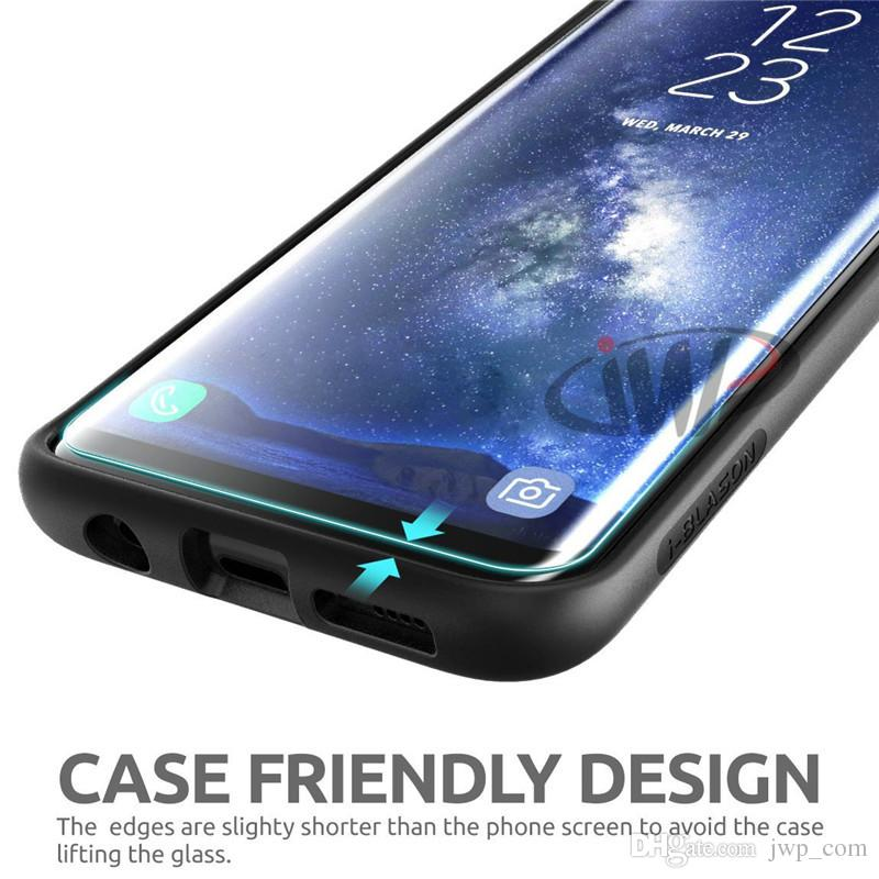 Case Friendly for Samsung Galaxy S9 S8 Plus Note 8 Screen Protector Tempered Glass 3D Curved Note8 Film Full Coverage