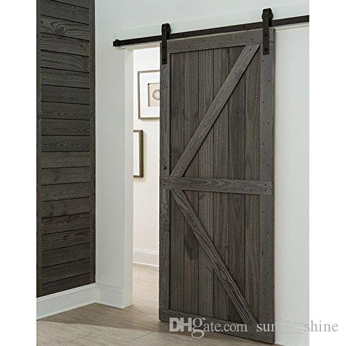 2018 8.2ft Single Sliding Barn Wood Antique Style Door Hardware Black  Surface Cabinet Closet Kit From Sun___shine, $150.76 | Dhgate.Com - 2018 8.2ft Single Sliding Barn Wood Antique Style Door Hardware