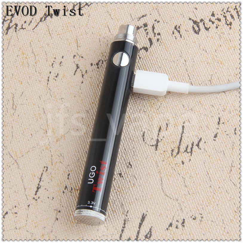 eVod Penna Vape a voltaggio variabile 510 Batteria eGo ugo twist 650 900 mAh batterie a voltaggio regolabile tensione diretta Cina