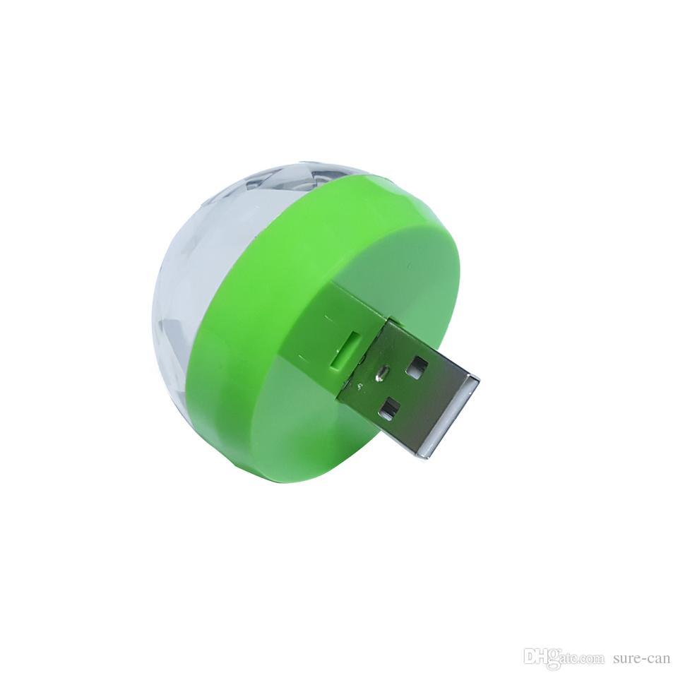 Mini RGB LED lumière USB Power LED ampoule lampe 3 W DC 5 V musique Sound Control Stage lumière KTV Disco Party Decor Microphone éclairage