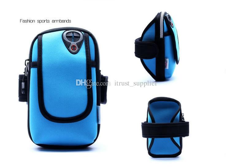 5.7inch Armband Arm Band Waterproof Phone Cases Cover Gym Jog Run Sports Fitness Wrist Hand Belt Pouch Bag