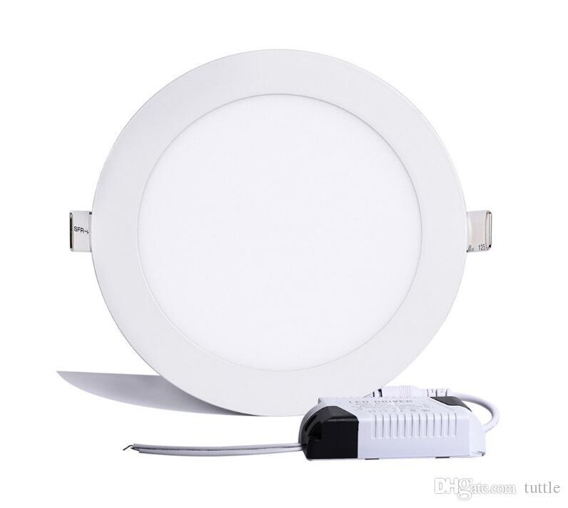 울트라 얇은 LED 패널 통 3W 6W 9W 12W 15W 18W 25W 라운드 LED 천장 recessed 빛 AC85-265V
