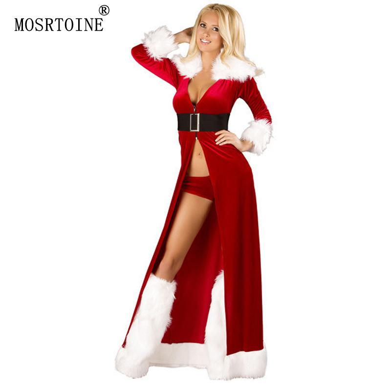 Charmant 2019 Wholesale Christmas Women Dress 2016 New Hooded Santa Claus Xmas Dress  Women Party Dresses Sexy Unique Christmas Costume Winter Dresses From  Erzhang, ...