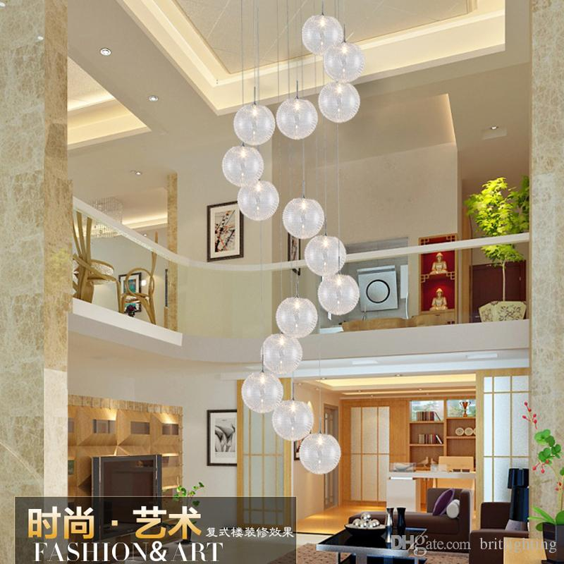 Chandelier Modern Minimalist Stairs Bedroom Creative Personality Restaurant  Bubble Aluminum Ball Clothing Store Pendant Lamps Mall Lights Modern  Lighting ...