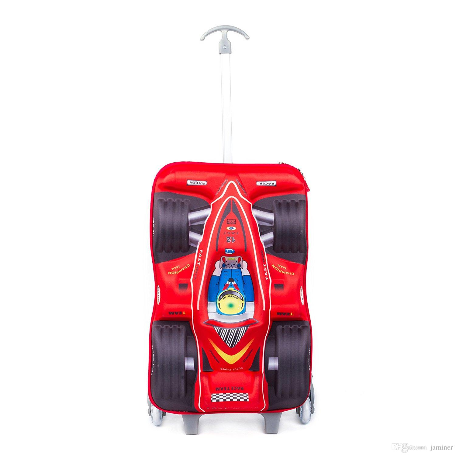 2017 Kids Luggage,17.7 Inch 3d Car Racing Design Children Trolley ...