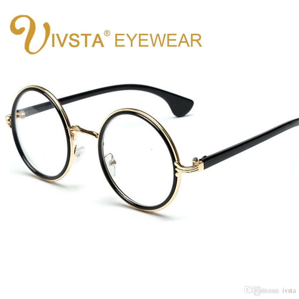 Compre Ivsta 2017 Rodada Armação De Metal Óculos De Armação Para Óculos De  Grau Feminino Com Óculos Transparentes Mulheres Optical Candy Harry Potter  435 De ... e389c07e6a