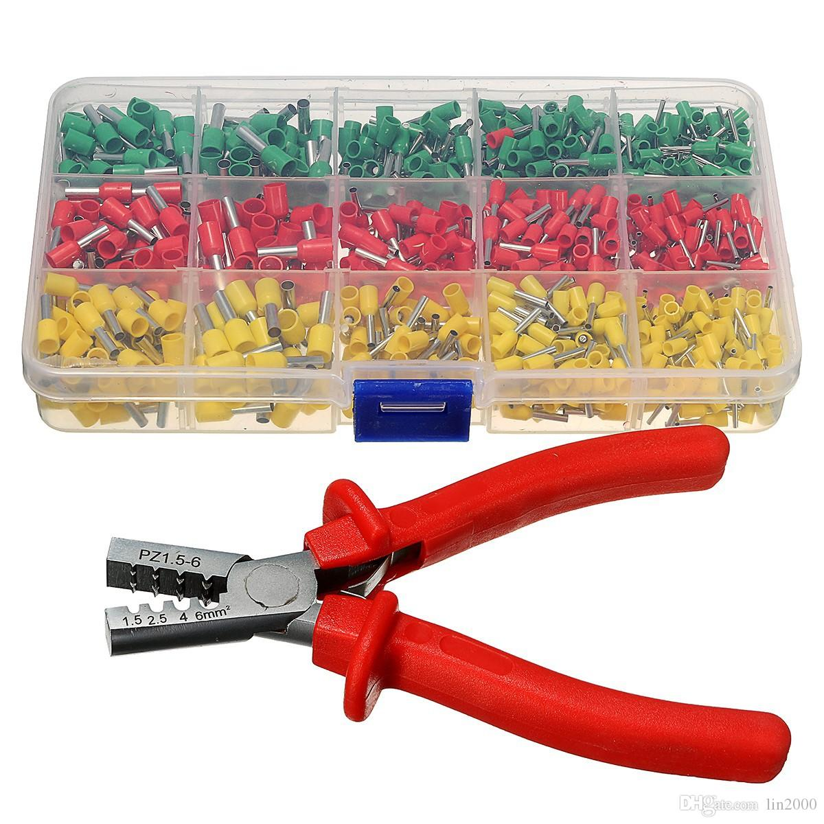 Crimping Tool Crimper Plier With Tube End Ferrule Terminals Car Wiring Harness Assortment Kit Tools For Connectors Online 2846 Set On