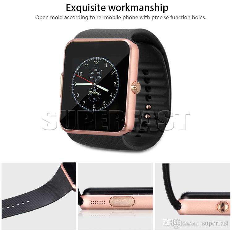 Bluetooth Smart Watch GT08 Smart Watches With SIM Card Slot And NFC Health Smartwatches For Android Samsung IOS With Retail Package