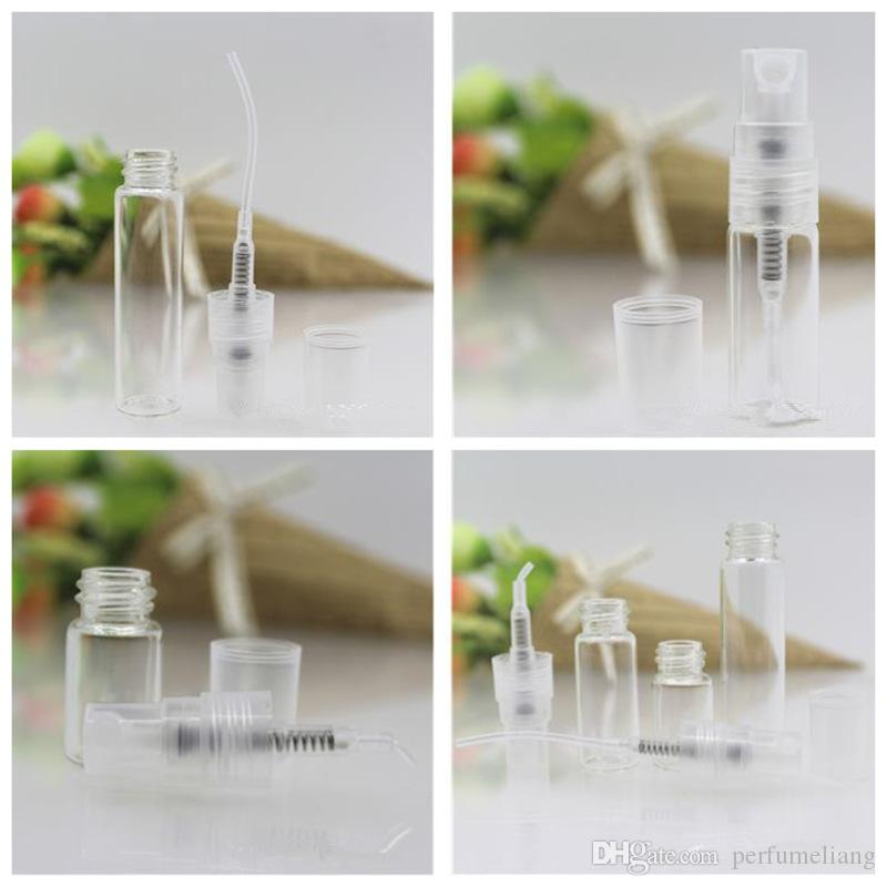 2ML 3ml 5ml 미니 유리 스프레이 향수 병 샘플 parfum 분무기 향수 병 소형 오일 스프레이 컨테이너 JF - 135