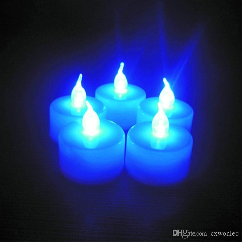 Luce singola disponibile multicolore girevole elettronico luce di notte della stanza della decorazione di Natale festa di nozze a LED del tè della candela