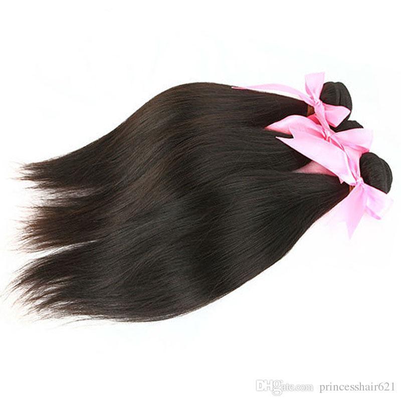 Tejido de pelo brasileño MIKEHAIR Barato Human Hair Extensions Natural Color Peruano Malasia India Camboya Mongolian Pelo 3 piezas