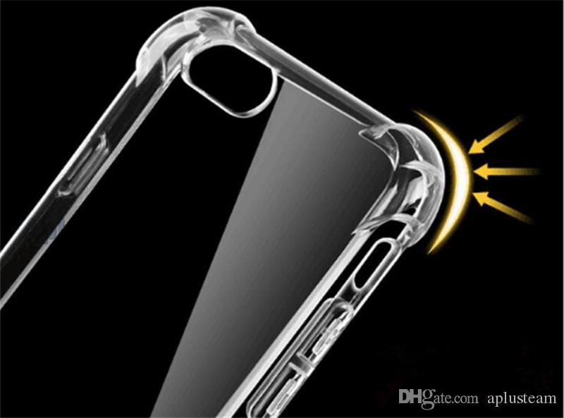 Ударопрочный Кристалл гель Gasbag высокий прозрачный чехол для Samsung S8 S8 plus Примечание 5 ультра-тонкий прозрачный мягкий ТПУ задняя крышка для iPhone 6s